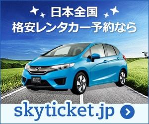 沖縄・北海道など全国のレンタカー30社比較・予約!スカイチケットレンタカー