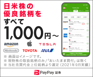 PayPay証券 日米株