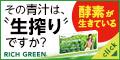 """酵素が生きてる!""""生""""搾り青汁リッチグリーン(お試し)"""