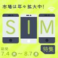 市場は年々拡大中!「SIM特集」